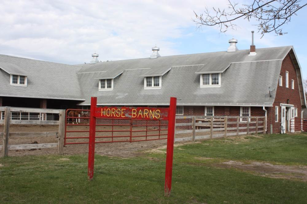 Sign at the Horse Barn.